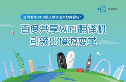 途鸽发布国庆出境游大数据报告,百度共享WiFi翻译机引领出境游变革