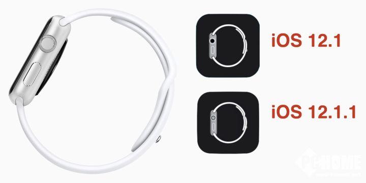 iOS 12.1.1更新:<font>Watch</font>应用图标发生变化