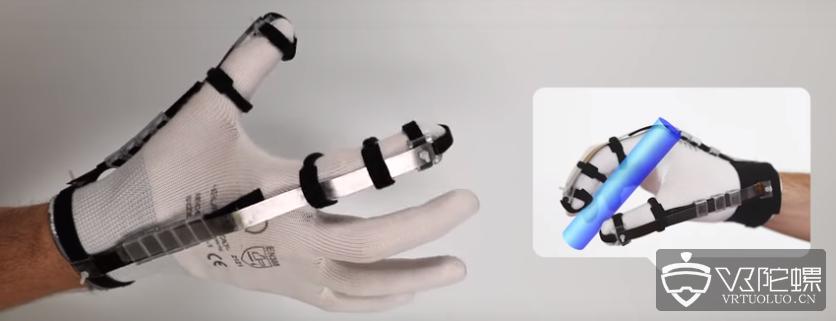 瑞士科学家研发8克<font>VR触觉手套</font>,触觉由电力驱动